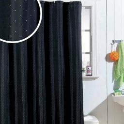 Diamante Polyester Shower Curtain