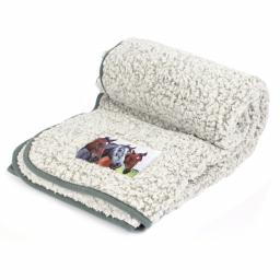Horse Design Double Sherpa Throw
