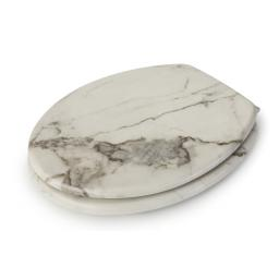 Madison Marble Oval Wooden Toilet Seat