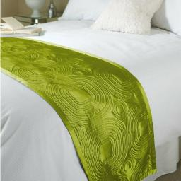 Geo Embossed Satin Bed Runner