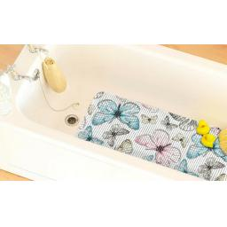 Extra Long Cushioned Butterfly Ribbed Anti Slip Bath Mat