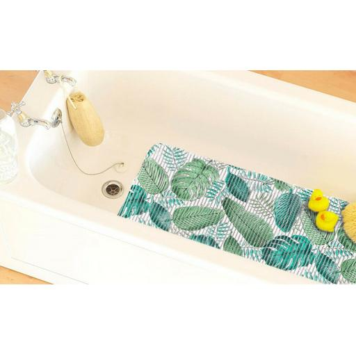Extra Long Cushioned Leaf Ribbed Anti Slip Bath Mat