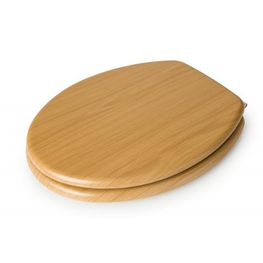 Hampton Oval Wooden Toilet Seat