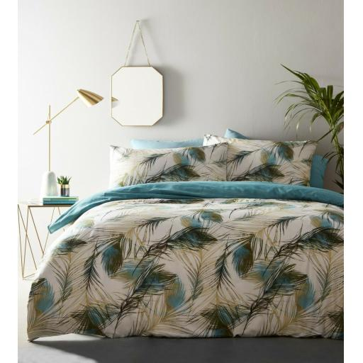 Print Collection Feather Reversible Duvet Set