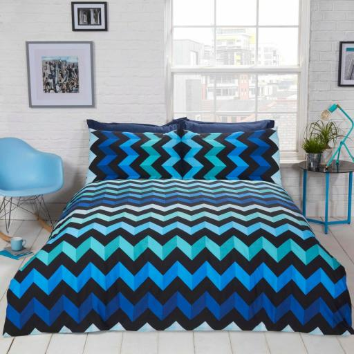 Finest Homeware Three D Reversible Duvet Set