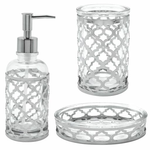 Moroccan 3pc Glass Accessory Set