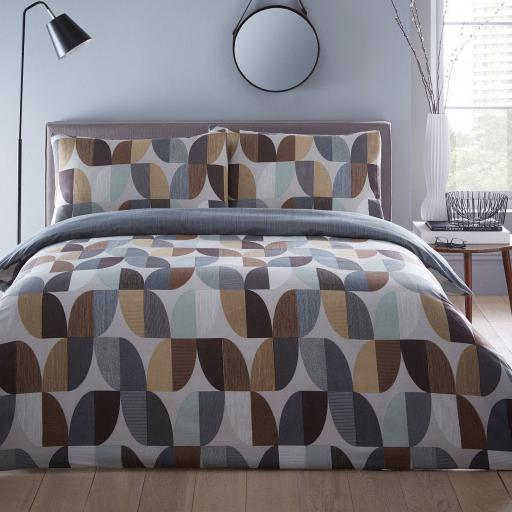 Print Collection Abstract Reversible Duvet Set