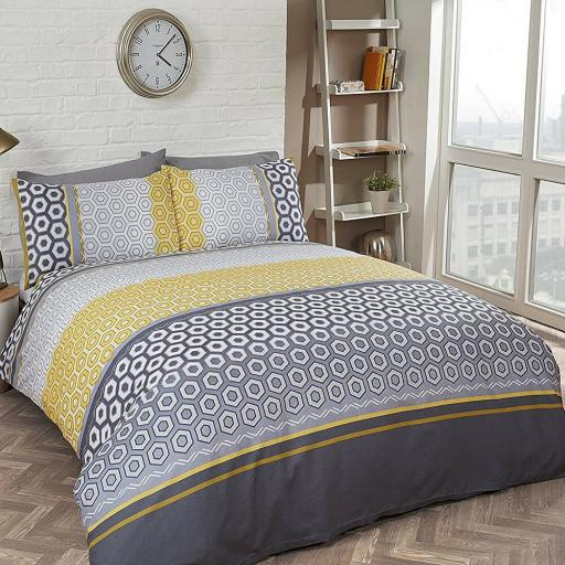 Finest Homeware Barbican Ochre Duvet Set
