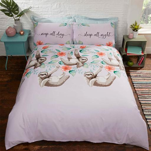 Studio Art Sloths Duvet Set