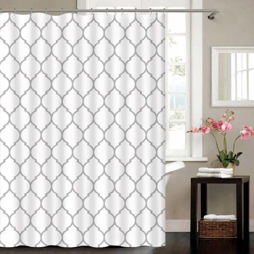 Moroccan Metallic Polyester Shower Curtain