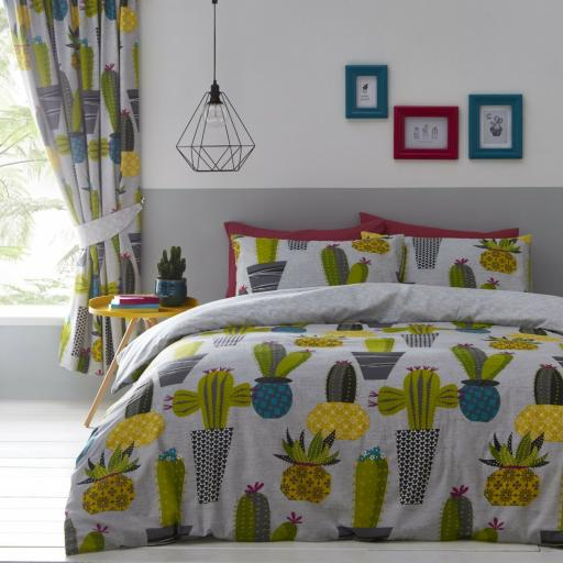 Print Collection Cacti Reversible Duvet Set
