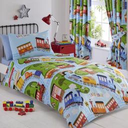 Kids Club Trains Duvet Set