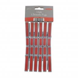 12 Pack Rubber Grip Pegs