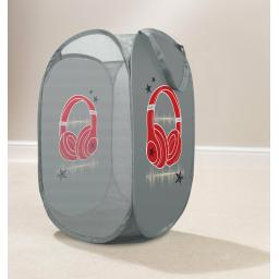 Urban Headphones Pop Up Laundry Hamper