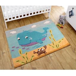 Unique Kids Whale & Friend Wool Rug