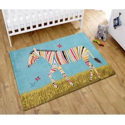 Unique Kids Colourful Zebra Wool Rug