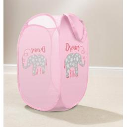 Dream Big Elephant Pop Up Laundry Hamper