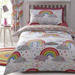 Kids Club Clouds & Rainbows Duvet Set