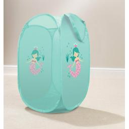 Aqua Mermaid Pop Up Laundry Hamper