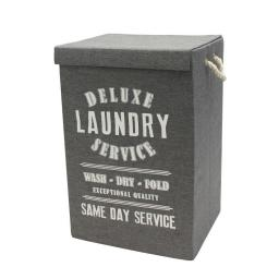 Deluxe Service Canvas Laundry Hamper