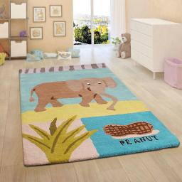 Unique Kids Elephant & Peanut Wool Rug