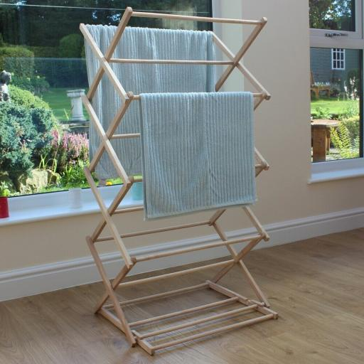 Vintage Wooden 4 Tier Clothes Airer