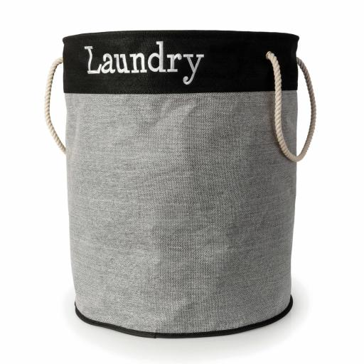 X-Large Round Linen Look Laundry Bag