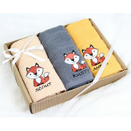 Rigg's Fox In A Box Boxed Kitchen Towels