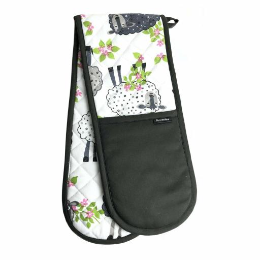 Country Sheep Twill Cotton Double Oven Gloves