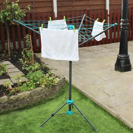 16M 3 Arm Portable Rotary Airer