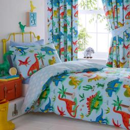 Kids Club Dinosaurs Reversible Duvet Set