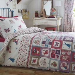 Kids Club Woodland Patchwork Reversible Duvet Set