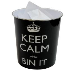Keep Calm Round Waste Paper Bin