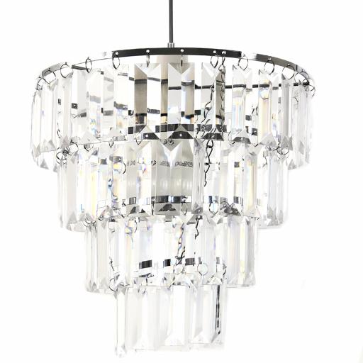 Tiered Gem Easy Fit Light Shade