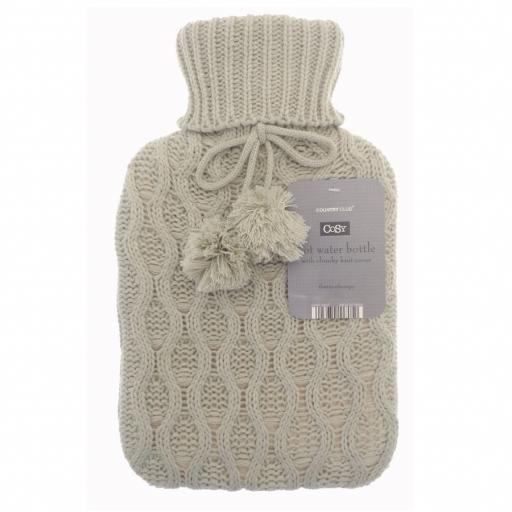 Cosy Cable Knit Hot Water Bottle