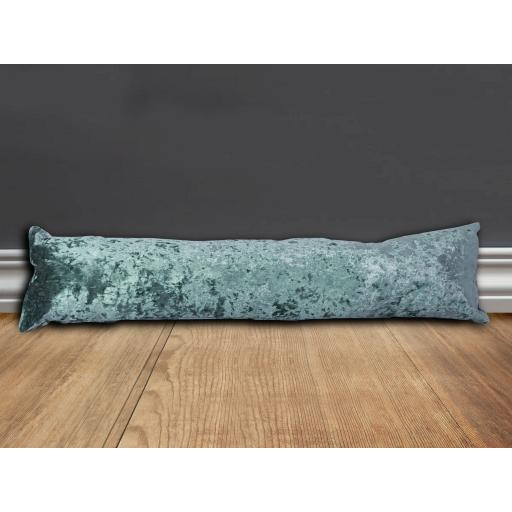 Marble Crushed Velvet Draught Excluder