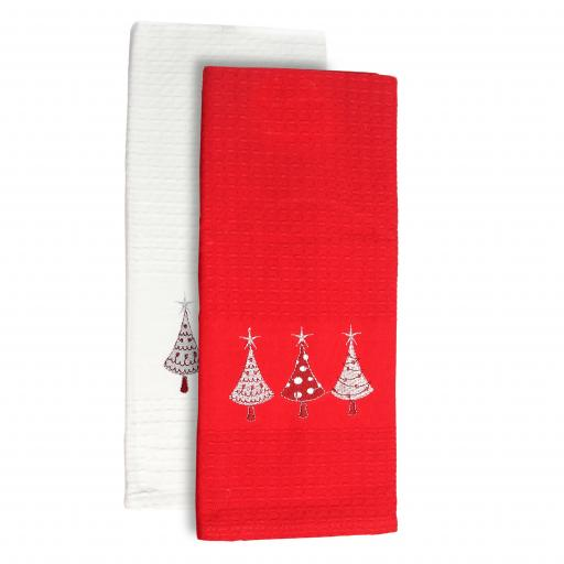 2pk Festive Spruce Kitchen Towels