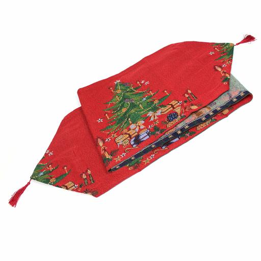 Christmas Tree Tapestry Table Runner