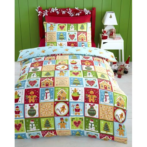 Kids Club Jolly Gingerbread Duvet Cover Set