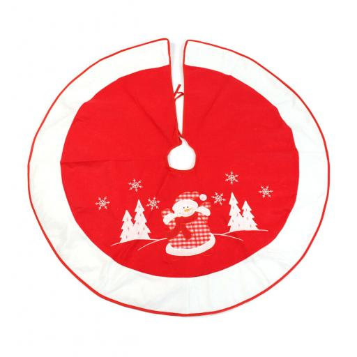 Felt Snowman Christmas Tree Skirt