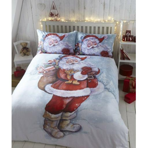 Father Christmas Festive Duvet Cover Set