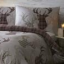 Print Collection Tartan Stag Reversible Duvet Set Swatch